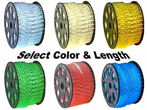 12V LED Rope Lights Home Auto Boat Lighting - Red Green Blue Cool & Warm White