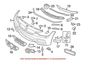 For BMW Genuine Fog Light Bracket Front Right 51118057190