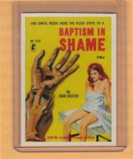 Baptism In Shame by John Dexter promo card book mark GGA pulp fiction sleaze