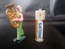 Lead Circus Figure - Clown Playing Instrument.