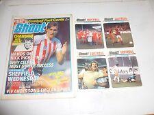 SHOOT! Comic - Date 18/02/1984 - UK Paper Comic - FREE FOOTBALL FACT CARDS 2