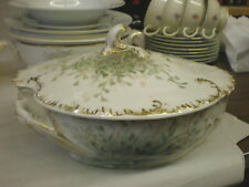Lovely Limoges Covered Cassarole or Covered Vegetable~Unique Shape
