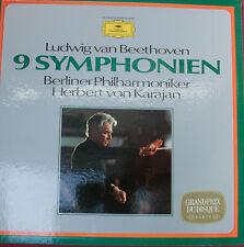 "BEETHOVEN 9 SYMPHONIEN KARAJAN BERLINER PHILHARMONIKER DGG -12""LP(k500)"