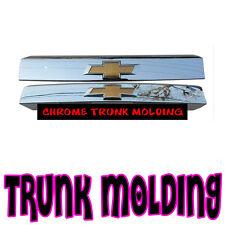 OEM Rear Trunk Chrome Garnish Trim with Emblem For 2011-2015 Chevy Orlando 4d