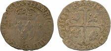 Henri IV, douzain aux deux H, 2e type, 1595 Lyon, argent - 116