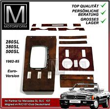 Mercedes SL Wurzelholz Set komplett 107 W107 1981-85 wood kit burl Holz Satz NEU
