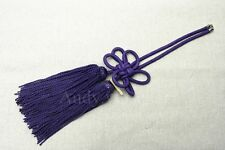1Pcs Chinese Purple Propitious Kiku Knot For Car Rearview Mirror Vip Charms