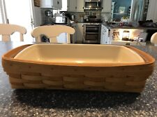 Longaberger Breadbasket with protector and bonus pottery