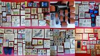 Huge Lot Over 400 Pieces Rubber Stamps & Wheel Rollers Borders