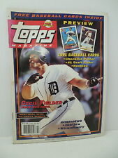 TOPPS Baseball MLB Card Magazine #5 Winter 1991 Cecil Firlder Strawberry Justice
