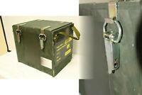 Holzkiste Transportbox Werkzeugkiste Holzkoffer Munitionskiste abschließbar oliv