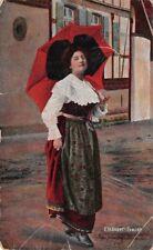 CPA - cartes fantaisies - Elsässer tracht  - Jeune fille  tenue d'alsacienne -