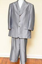 Extrema Light Gray Suit - Pants ,Inseam 26 Waist 36 - vest 42 - jacket 42 Italy