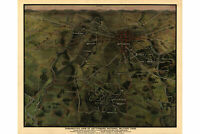 Gettysburg National Military Park; Antique Map;1916