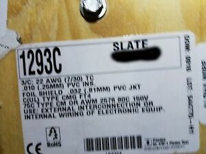 Alpha Wire 1293C 22/3C Twisted Shielded Communication/Control Cable Gray/50ft