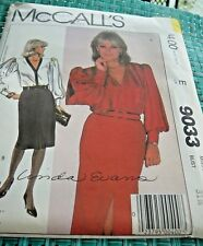 Vintage 1984 McCall's 9033 Linda Evans Blouse and Skirt Sewing Pattern Size 8