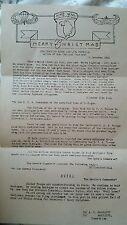 COPY OF DDAY WW2 GEN. MCAULIFFES FAMOUS MERRY CHRISTMAS MESSAGE.AT BULGE  BATTLE