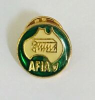 AFIA Australian Finance Industry Association Pin Badge Rare Vintage (A4)
