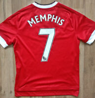 Manchester United Memphis Depay 7 Adidas home red boys soccer jersey Size L
