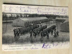 Alte Postkarte Ansichtskarte 1903 Truppenübungsplatz Sennelager