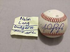 NOLAN LONG SIGNED ARIZONA FALL LEAGUE BASEBALL/ LOS ANGELES DODGERS, 2018 AFL