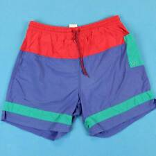 Men's ATHLETIC WORKS Vintage Shorts Size Large L 90s Color Block Sailing Trunks