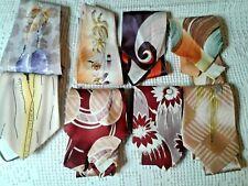 8 Vintage 40s 50s Necktie Tie Lot Graphic Art Deco Hand Painted Rayon Silk Arrow