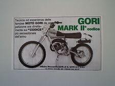 advertising Pubblicità 1977 MOTO GORI MARK II CODICE