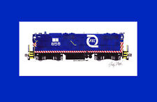 "Florida East Coast GP9 #658 11""x17"" Matted Print Andy Fletcher signed"