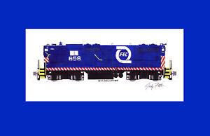 "Florida East Coast GP9 #658 11""x17"" Matted Print Andy Fletcher signed"