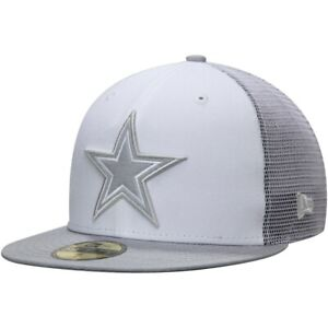 DALLAS COWBOYS NFL NEW ERA OFFICIAL CLOUD MESH 59FIFTY FITTED HAT MULTIPLE SIZES