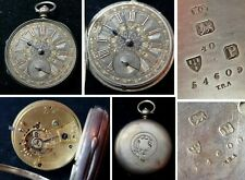 "Solid Silver (1898) Pocket Watch ""Thomas Richard Arnott"" FUSEE AS128-4-24620"