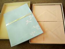 Vintage HALLMARK Stationery Set, 24 Sheets of Paper, 10 Envelopes Blue/Pink