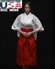 "1/6 Scale Japanese Kimono Miko Dress For 12"" Phicen Hot Toys Female Figure USA"