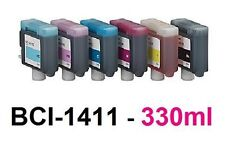 6 x Tinte für Canon W7200 W8200 W8400 / BCI-1411BK 1411C 1411M 1411Y 1411PC Set