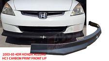 2003 2005 Honda Accord Sedan HC1 Style Front Bumper Lip Carbon Print Non V6