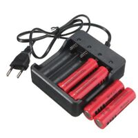 Battery Charger 4 Slot Universal Rechargeable 4.2V Li-ion US Plug For 18650