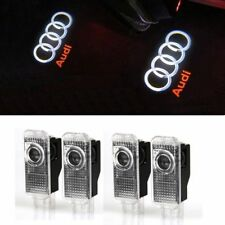 4X Fit Audi A4 A6 A8 Q7 LED Light Shadow Projector Car Door Courtesy Laser Logo