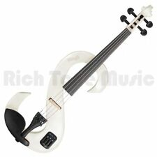 Stagg 4/4 Electric Violin Set - White