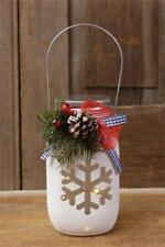Led MASON jar With SNOWFLAKE design