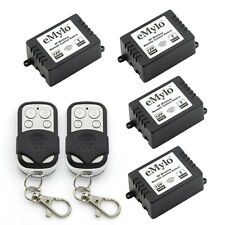 Wireless Smart Remote Control Switch For Lighting Security 2Transmitter 12V4X1CH