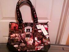 One (1) Le Miel shoulder multi color handbag with western theme NWT