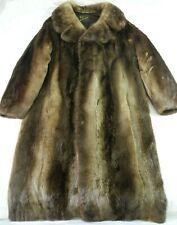 Barnes Furs Fur Coat Trench Coat Brown Medium Large W/ Hat