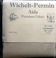 "Wichelt Imports PREMIUM Cross Stitch Fabric AIDA 14 ct 18"" X 25"" LAMBSWOOL"