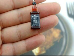 3D Handmade Novelty Jack Daniels Micro Keyring Keychain Gift Resin Charm
