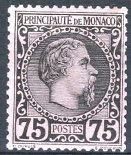 "MONACO STAMP TIMBRE 8 "" PRINCE CHARLES III 75c NOIR SUR ROSE "" NEUF xx TB   M661"