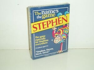 """The Names the Game """"Stephen"""" (New & Sealed) by Paul Lamond Games 2002."""