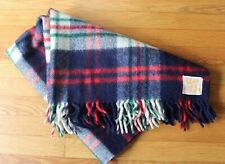 Quiltex Fabric by Orr 100% Wool Plaid Blanket 36x29.5 Fringe