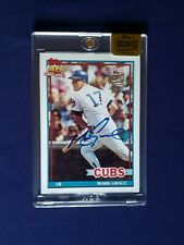 2015 TOPPS ARCHIVE SIGNATURE SERIES MARK GRACE 1991 TOPPS BUY BACK AUTO 7/7 RARE