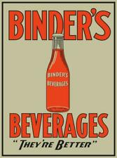 Vintage Style Metal Sign Binders Beverages 30 x 20